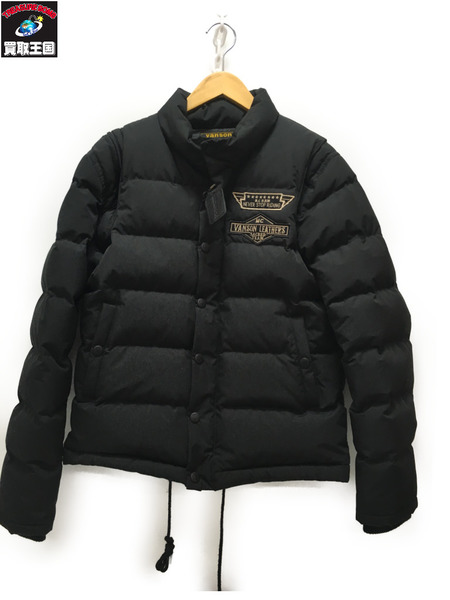 VANSON ホワイトダックダウンジャケット (M) BLACK 【中古】