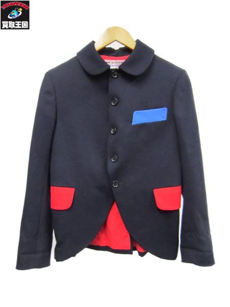 COMME des GARCONS ラウンドカラーウールジャケット 【中古】[▼]