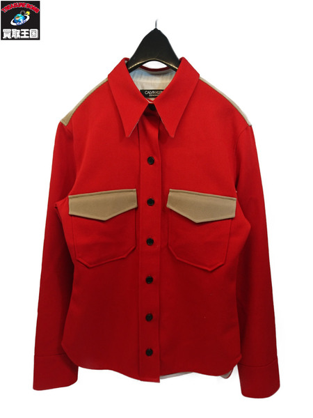 Calvin Klein カルバンクライン ウールシャツジャケット size36【中古】