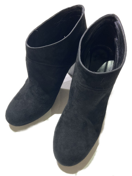 MARNI SUEDE ANKLE BOOT 38 BLACK【中古】