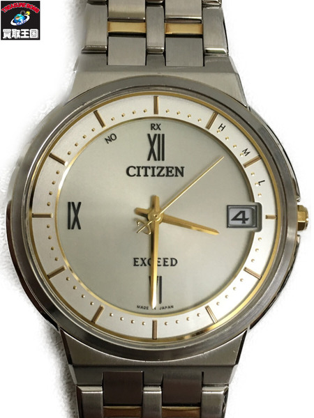 CITIZEN EXCEED エコドライブ 電波時計 薄型モデル 薄型モデル エコドライブ EBG74-2813【中古 電波時計】[▼], 酒どころみやび:a1d2f5a8 --- officewill.xsrv.jp