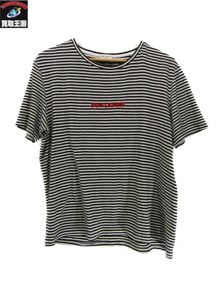 SAINTLAURENT/ボーダー クルーネック tシャツ M サンローラン【中古】
