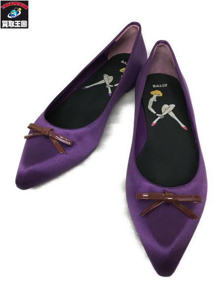 BALLY パンプス(US5.5)紫【中古】