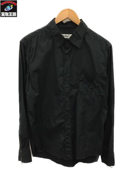 サルバム sulvam 18SS スタンダードカラーシャツ (S) 黒【中古】