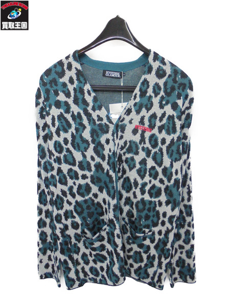 HYSTERIC GLAMOUR ヒステリックグラマー PANTHER パンサー 総柄ジャカード カーディガン(S)【中古】[値下]