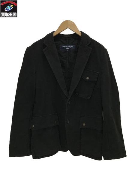 COMME des GARCONS/デザインジャケット/SS/ブラック【中古】