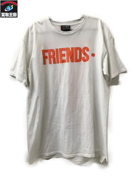 VLONE FRIENDS Tシャツ ホワイト XL【中古】