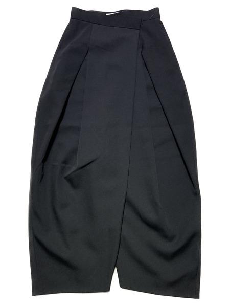 ENFOLD/asymmetric wide leg trousers/36/ブラック【中古】[▼]