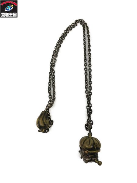 PEANUTSCo Bull Dog Pendant TopNecklace Chain Adolf/真鍮【中古】