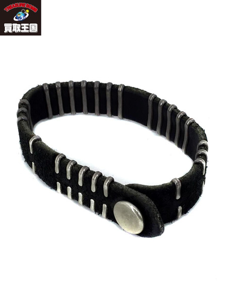JILL PLATNER birch bark bracelet BLACK レザーブレスレット【中古】