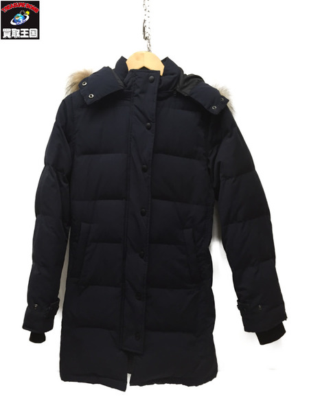 TODAYFUL 16AW ラクーンファー ダウンコート Navy 38【中古】