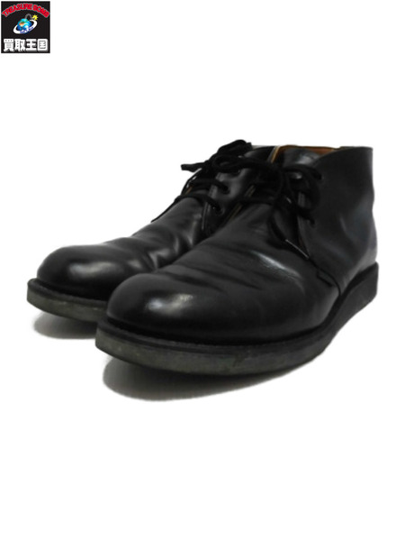 RED WING チャッカブーツ 8 1/2 黒【中古】