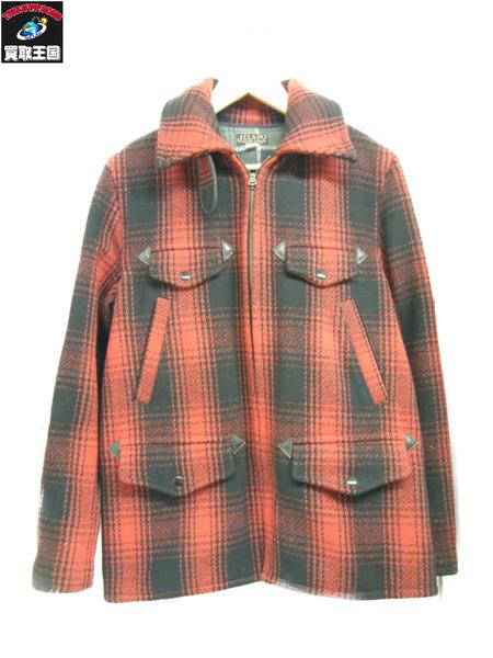 JELADO ウールチェックジャケット 赤 36【中古】[▼]