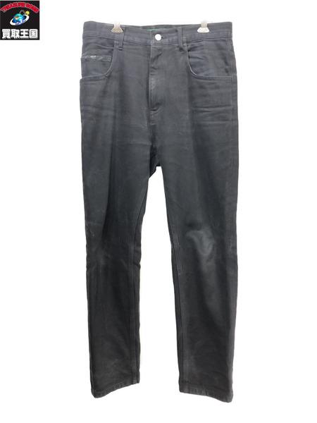 gourmet jeans ナローデニムパンツ(W34)ブラック グルメジーンズ【中古】[▼]