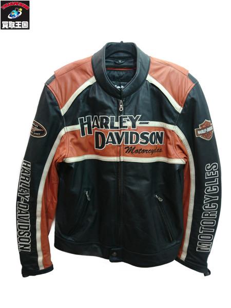 Harley-Davidson レザーレーシングジャケット M 黒【中古】