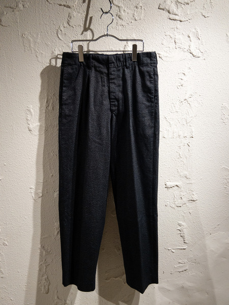 AURALEE/18aw/WASHED FINX POLYESTER CHINO TAPERED PANTS/3【中古】