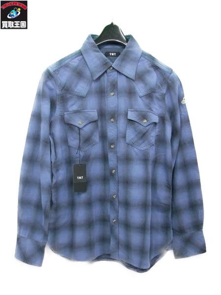TMT W GAZE OMBRE CHECK SHIRT ダブルガーゼシャツ サイズS【中古】[値下]