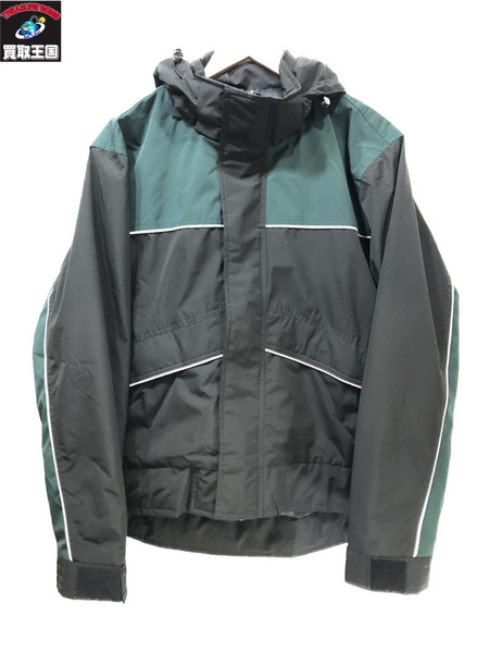 M+RC NOIR マルシェノア ナイロンジャケット(L)ブラック×グリーン マルシェノア【中古】
