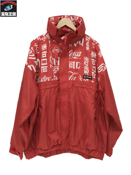 COCA-COLA×Columbia×ATMOS LAB WOLF ROAD TXT JACKET/赤/XL【中古】