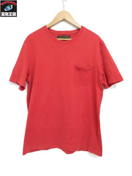 正規通販 LV/ポケットダミエデザイン/Tシャツ/XL/RED, 添田町 f4bba087