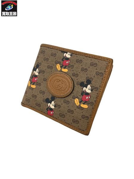 GUCCI×DISNEY ミッキーマウス 送料無料お手入れ要らず 至上 二つ折り財布 中古