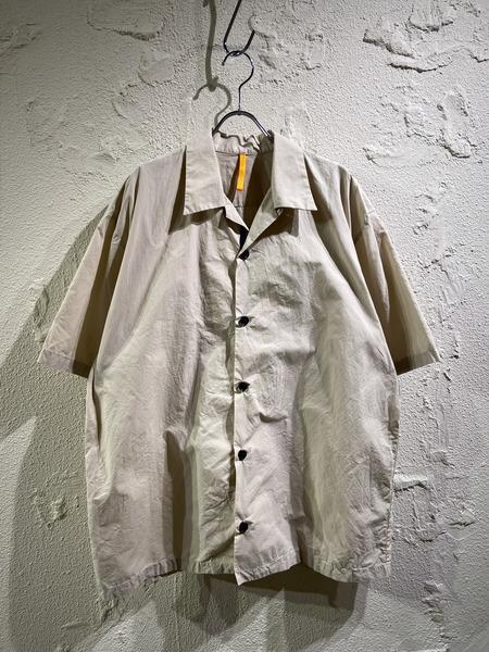 MAN-TLE/オープンカラーシャツ/M/ベージュ【中古】