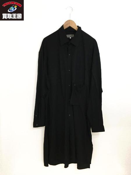 Yohji Yamamoto Pour Homme 19SS サイドスリットロングコットンシャツ(2)【中古】[▼]