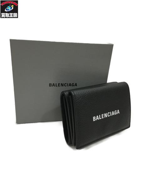 BALENCIAGA 594312 コンパクトウォレット 無料 手数料無料 三つ折り財布 中古