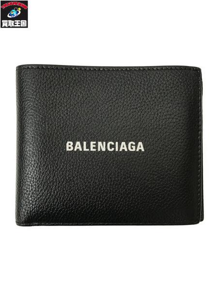 BALENCIAGA 594315二つ折り財布 至上 中古 黒 日本製