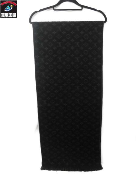 Louis Vuitton エシャルプ モノグラム 18%OFF BLK 中古 超激安特価 マフラー クラシック