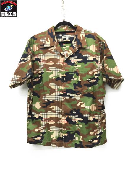使い勝手の良い LANDLORD OPEN COLLAR HALF SLV SHIRT ARMY CAMO PLAID ランドロード オープンカラーシャツ, asian closet 0393e5d6