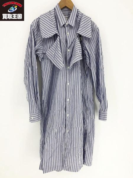 COMME des GARCONS SHIRT ストライプトレンチシャツ (M) 【中古】