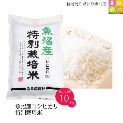 令和元年産 魚沼産 コシヒカリ 特別栽培米 10kg(5kg×2袋) 送料無料 特A米