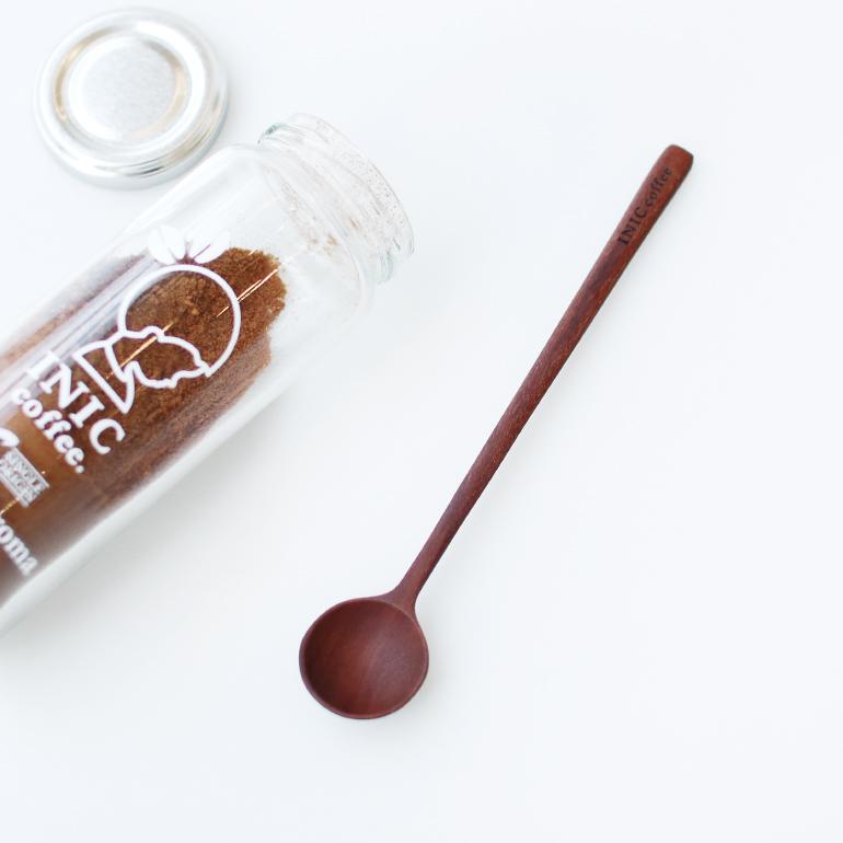6620744 全国一律送料無料 INIC coffee イニックコーヒー 計量スプーン ☆ コーヒースプーン コーヒーグッズ 至上 木製