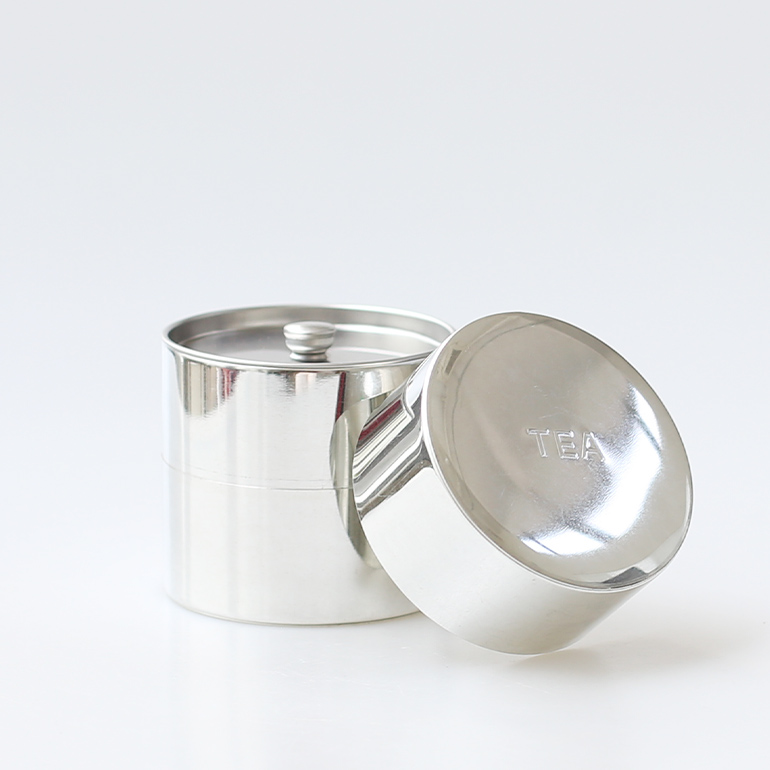 CINQ サンク ティー缶 茶筒 キャディー缶 丸缶 ブリキ お茶 北欧 即納最大半額 信頼 保存容器 容量200g 紅茶 ☆