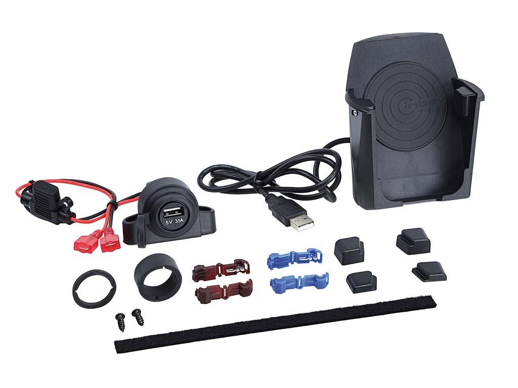 【送料無料】車載用 ワイヤレス充電器 汎用カップホルダーKITQi規格対応 12VQi Wireless Charging
