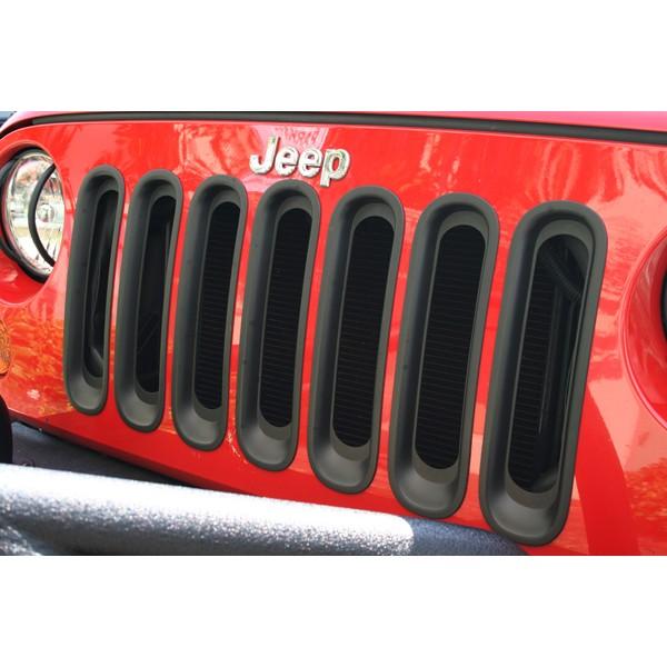 【セールクーポン配布中】【送料無料】Rugged Ridge グリルインサート ブラックジープ JKラングラー【JEEP WRANGLER】