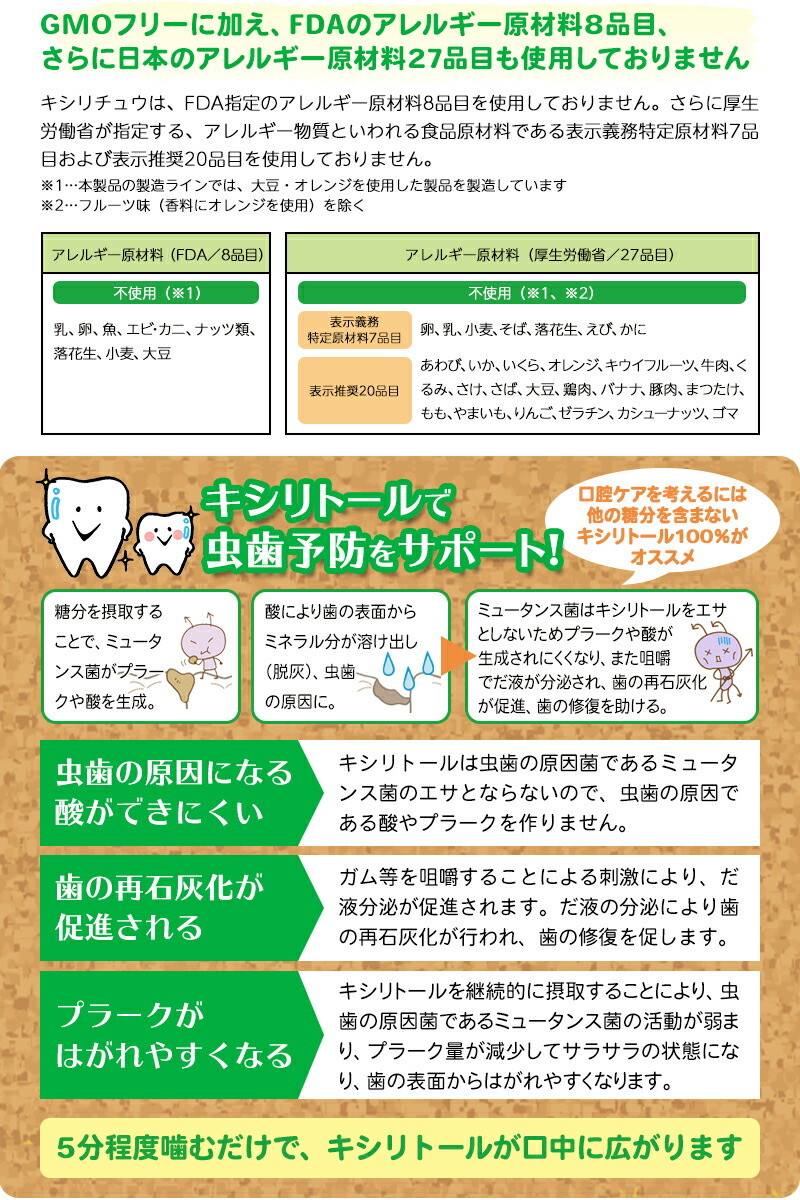 ◆キシリトール100%◆Xylichew(キシリチュウ)粒ガム ボトルタイプ(60粒)×選べる2本セット