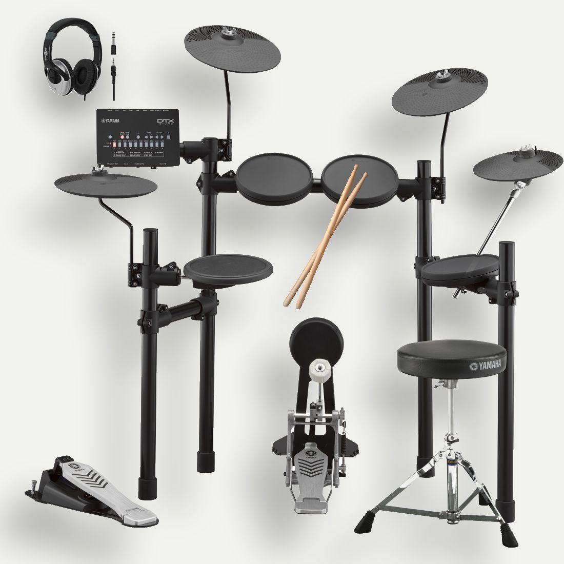 YAMAHA ヤマハ 電子ドラム DTX452KUPGS アップグレードセット ドラム椅子 スティック ヘッドホン 付 プレミアム•学割 対象 特典 暑中見舞い
