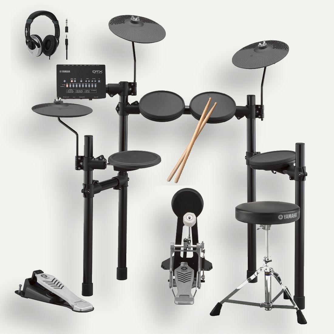 YAMAHA ヤマハ 電子ドラム DTX452KS ドラム椅子 スティック ヘッドホン 付