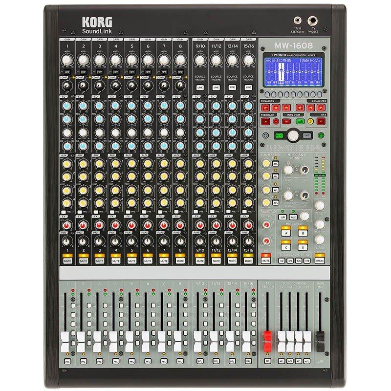KORG MW-1608 BK HYBRID ANALOG/DIGITAL MIXER 5月23日発売 予約受付