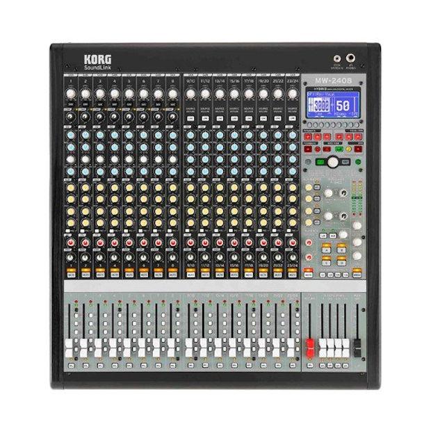 KORG MW-2408 BK HYBRID ANALOG/DIGITAL MIXER 5月23日発売 予約受付