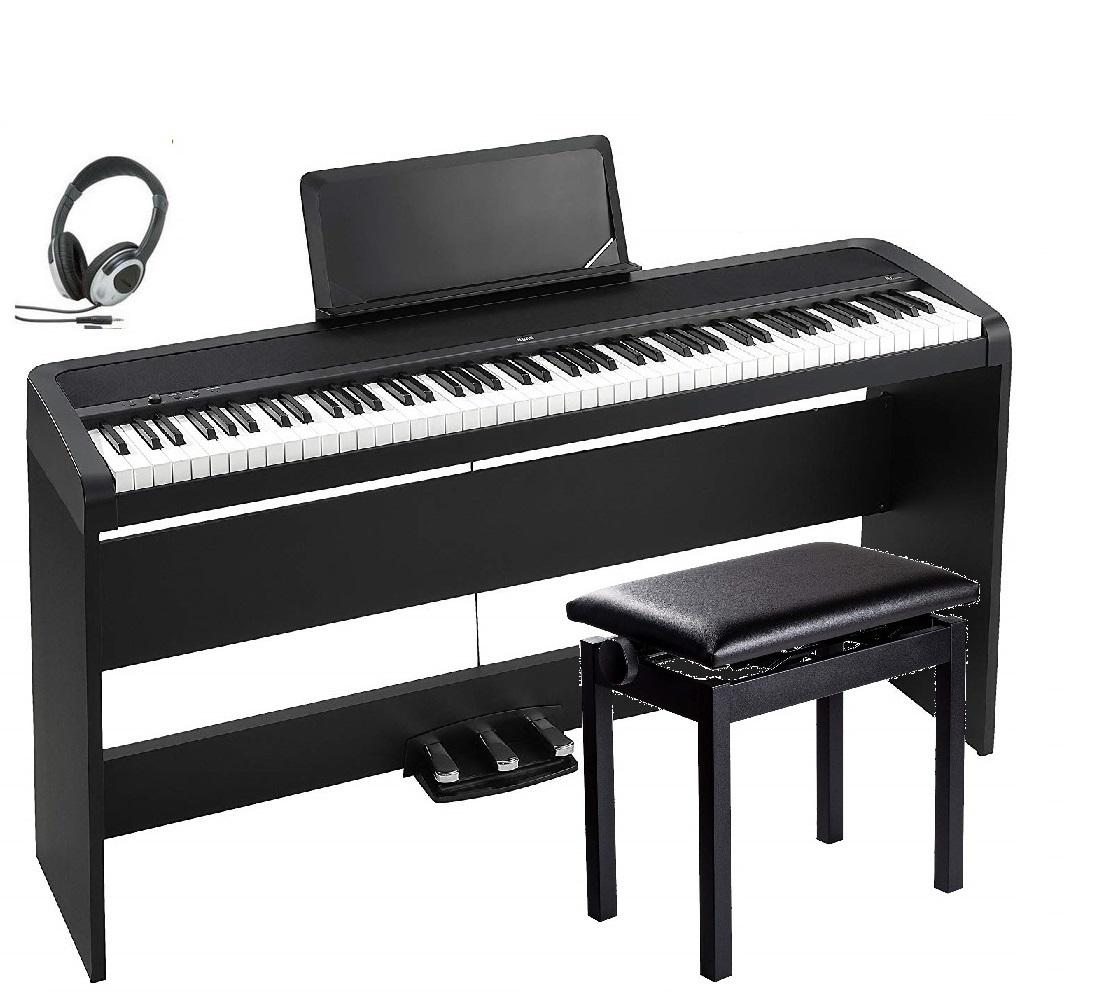 KORG B1SP BK コルグ 電子ピアノ ブラック 専用スタンド STB1 3本ペダル 高低椅子 ヘッドホン 付属 4/15入荷予定