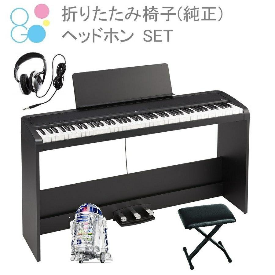 電子ピアノ88鍵盤 KORG B2SP BK コルグ 専用スタンド 3本ペダル 椅子(純正) ヘッドホン(密閉型) 電子ピアノカバー 付属 Little Bits プレゼント