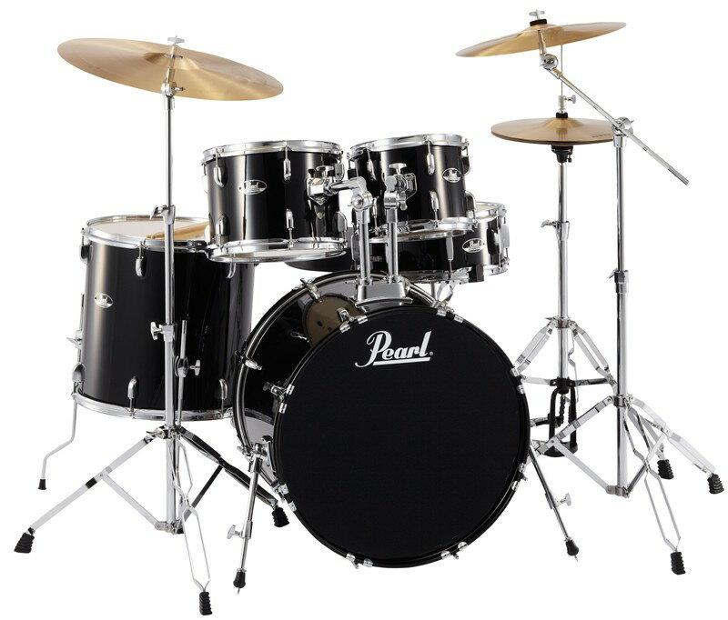 Pearl Roadshow RS525SCW/C No.31 JET BLACK パール ドラムセット