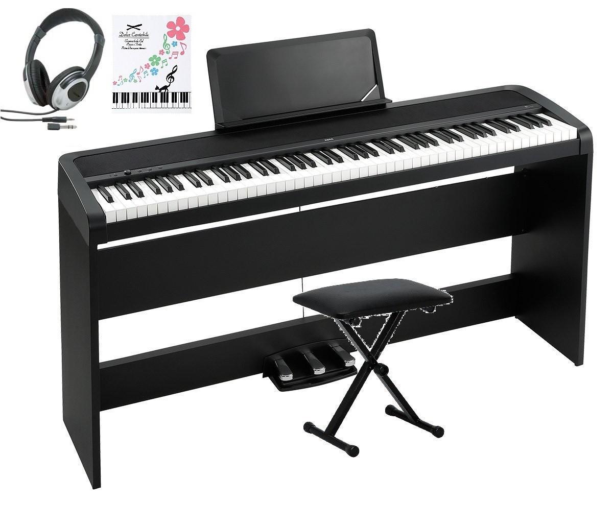KORG B1SP BK コルグ 電子ピアノ 専用スタンド STB1 3本ペダル 椅子 ヘッドホン(密閉型) クロス 付属 オプション 専用カバー
