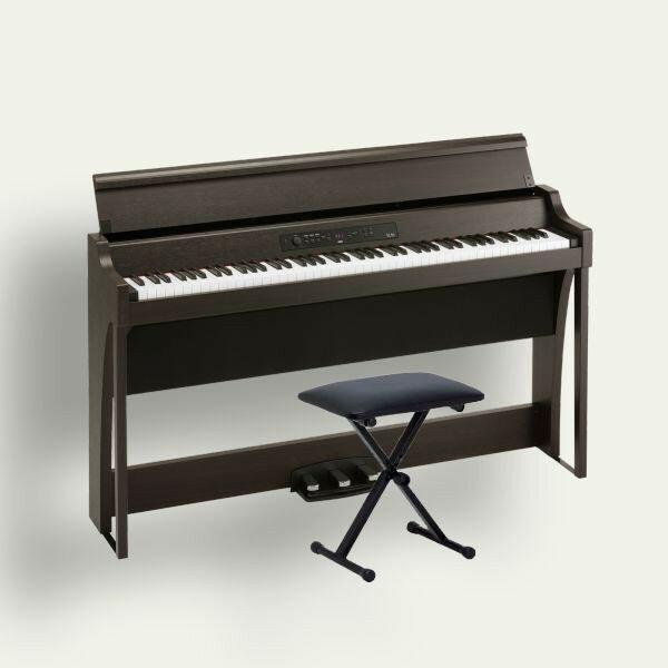KORG 電子ピアノ G1 Air BR ブラウン(木目調仕上げ) 専用スタンド 椅子 ヘッドホン付き 松井咲子サイン入り キーカバーフェルトプレゼント!