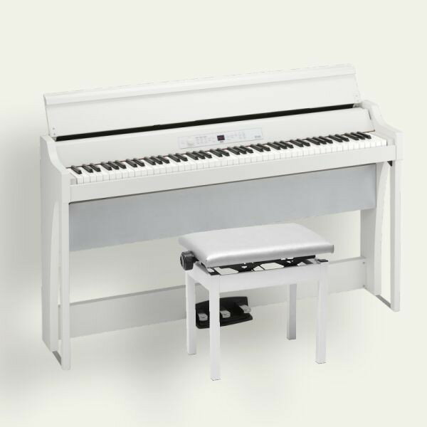 KORG 電子ピアノ G1 Air WH ホワイト 専用スタンド 高低椅子 ヘッドホン付き 松井咲子サイン入り キーカバーフェルトプレゼント