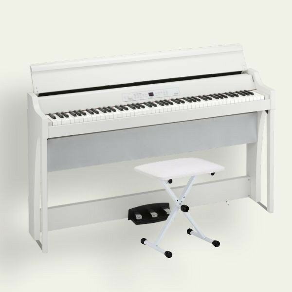 KORG 電子ピアノ G1 Air WH ホワイト 専用スタンド 椅子 ヘッドホン付き 松井咲子サイン入り キーカバーフェルトプレゼント!