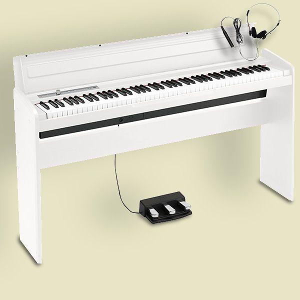 KORG LP-180 WH コルグ 電子ピアノ スタンド・3本ペダルユニット・ヘッドホン付